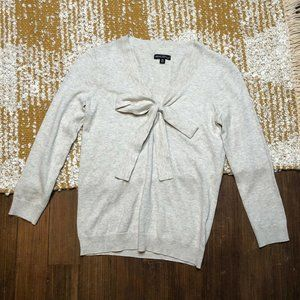 J. Crew Mercantile Sweater Size XS Beige Pussy Bow